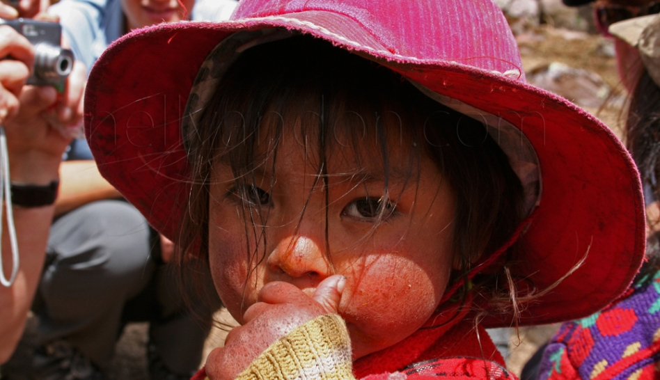 A local girl in Lares Valley, Peru